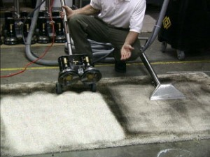 Commercial Cleaning for Heavy Soil - Rotary Steam Clean - after!
