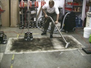 Commercial Cleaning for Heavy Soil - Rotary Steam Clean - before